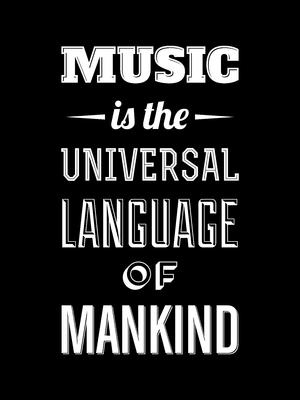 Music is the universal language fundo preto