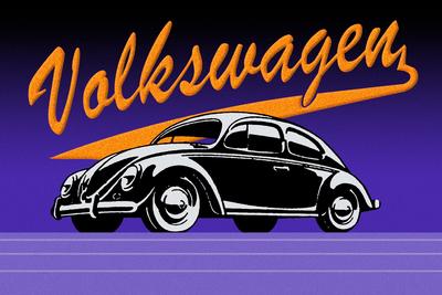 Volkswagen Vintage Roxo