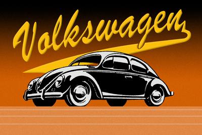 Volkswagen Vintage Laranja