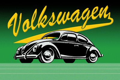 Volkswagen Vintage Verde