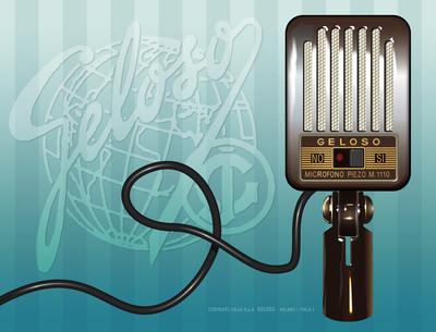 Microfone Geloso 1955