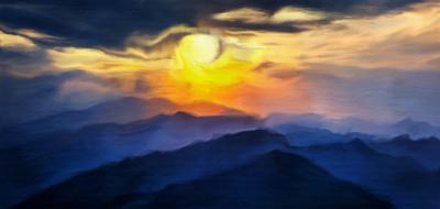 Pôr do sol nas montanhas 2