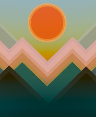 Pôr do sol nas montanhas 3