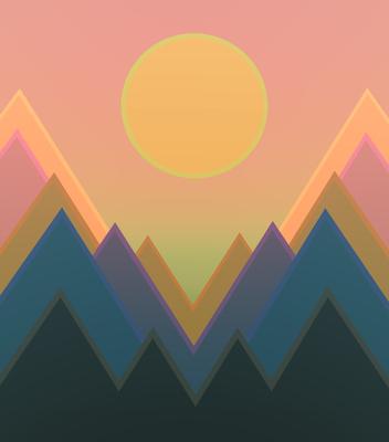 Pôr do sol nas montanhas 4