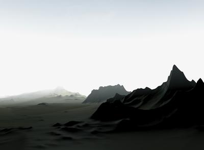 Montanhas em preto e branco 2
