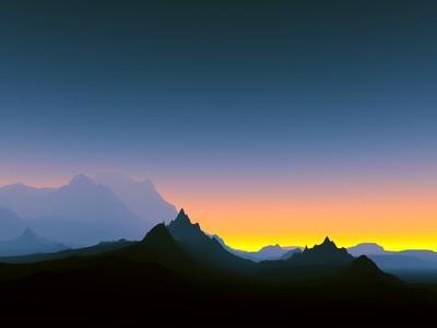 Pôr do sol nas montanhas 5