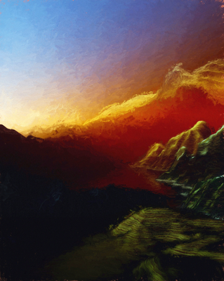 Pôr do sol nas montanhas 6