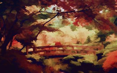 Ponte em meio ao Bosque