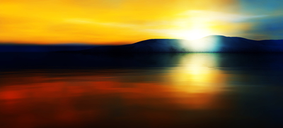 Pôr do Sol na Montanha