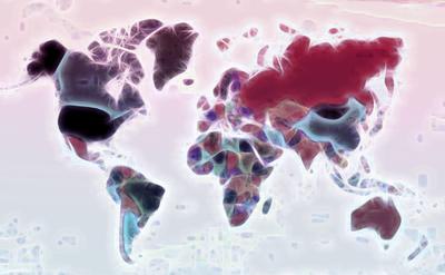 Mapa Mundi - Estilizado 2