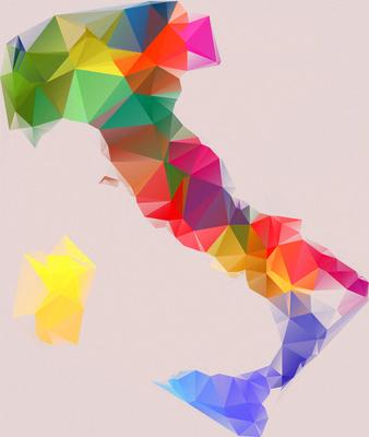 Mapa Itália - Estilizado