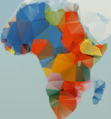 Mapa África - Estilizado