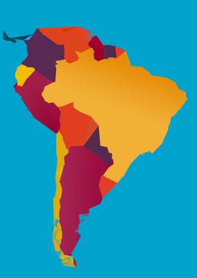 Mapa América do Sul - Estilizado