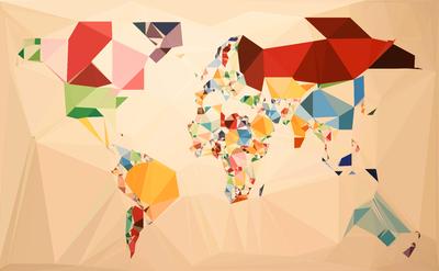 Mapa Mundi  5 - Estilizado