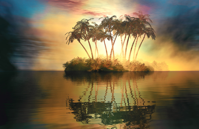 Pequena Ilha Tropical