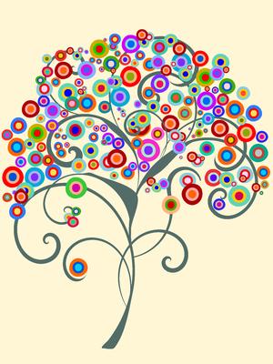 Árvore Colorida 2