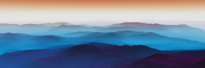 Montanhas azuladas