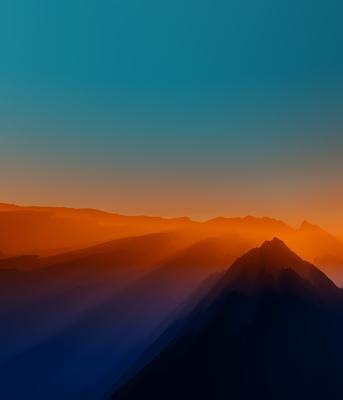 Belo Entardecer nas Montanhas 2