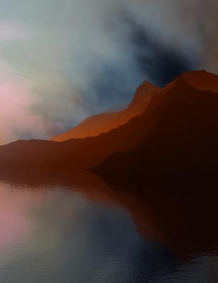 Montanhas ao Entardecer 6