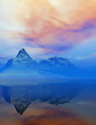 Montanhas Nevadas ao Entardecer