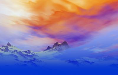 Montanhas Nevadas ao Entardecer 2