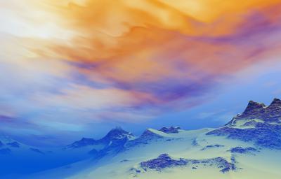 Montanhas Nevadas ao Entardecer 3