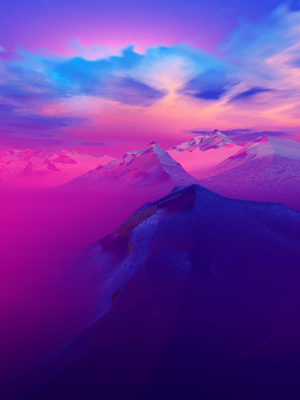 Belo Entardecer nas Montanhas 3