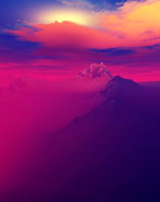 Belo Entardecer nas Montanhas 4