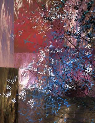 Árvore Azul e Branca