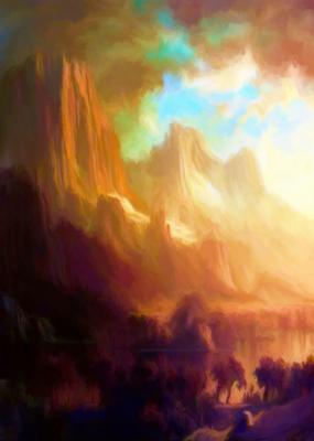 Montanhas e Lago