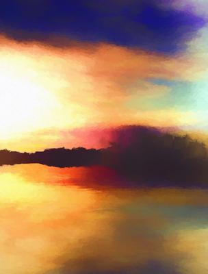 Montanha ao Pôr do Sol 3