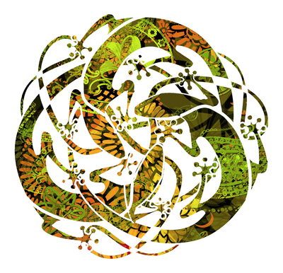 Mandala de Lagartos - Suruba de Mabuyas - Verde-branco