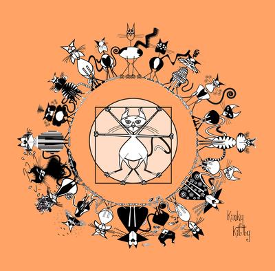 Kinky Kitty -  A Mandala dos Gatos