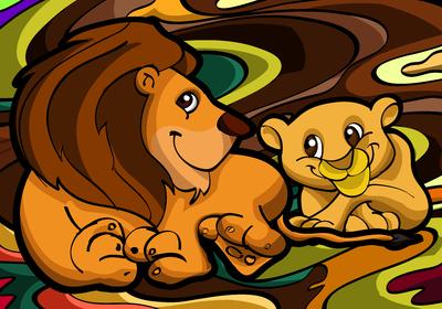 Leão e o filhote