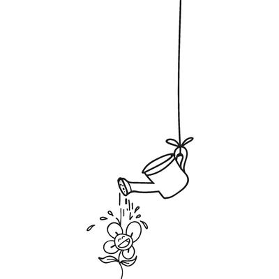 Regando a flor