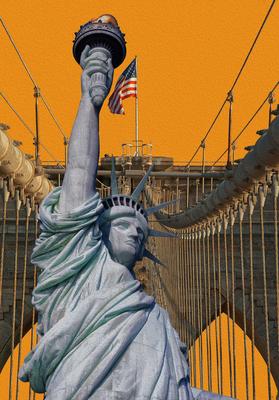 Estatua da Liberdade - Ponte do Brooklyn