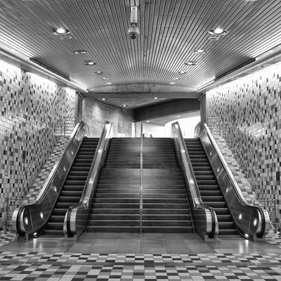 Detalhe da Estação de Metrô de Los Angels.