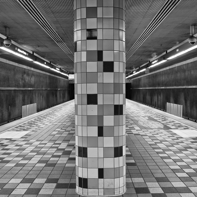Detalhe de Arquitetura de Metrô