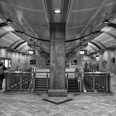 Detalhe 2 da plataforma do Metrô