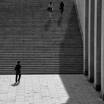 Escadaria em Paris