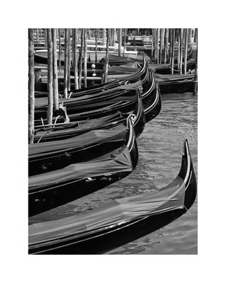 Gôndolas em Veneza Itália