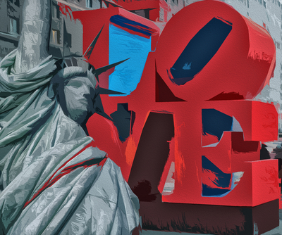 Escultura Love - New York