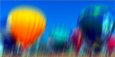 Balões em movimento