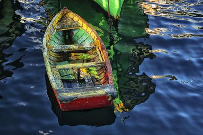 Barco em Valparaíso