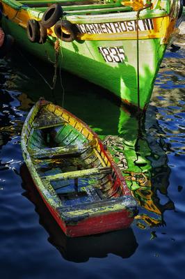 Barco em Valparaíso II