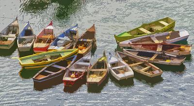 Conjunto de barcos