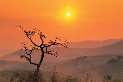 Por do Sol na Serra da Canastra, MG