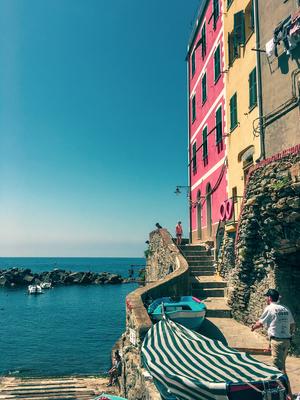 Cinque Terre: casas e mar