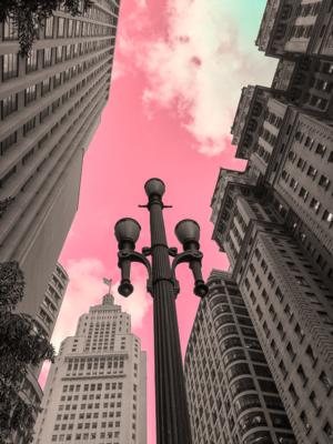Céu rosa em Sampa: centro