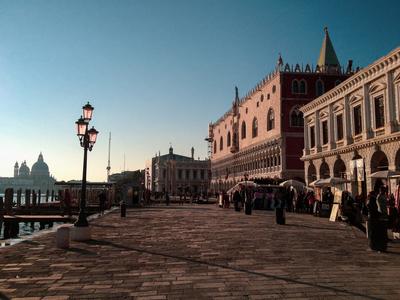 Entardecer em Veneza (paisagem)